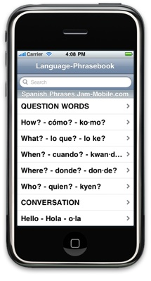 English-Spanish Language Translator Phrasebook - Jam-Mobile.com