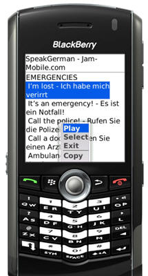 Speak German Audio Language Phrasebook Translator for BlackBerry