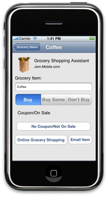 Grocery Shopping Assistant for iPhone - Jam-Mobile.com