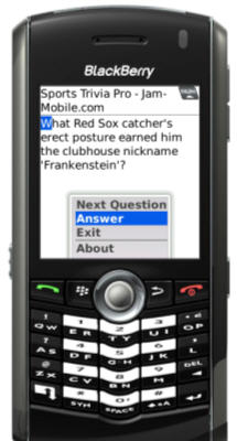 Sports Trivia Pro for BlackBerry
