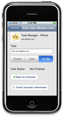 Task Manager (To-Do List) for iPhone - Jam-Mobile.com
